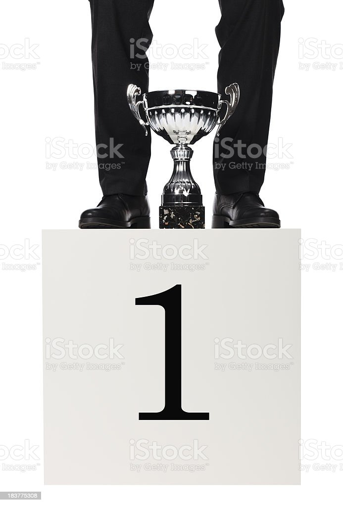 Businessman first place stock photo