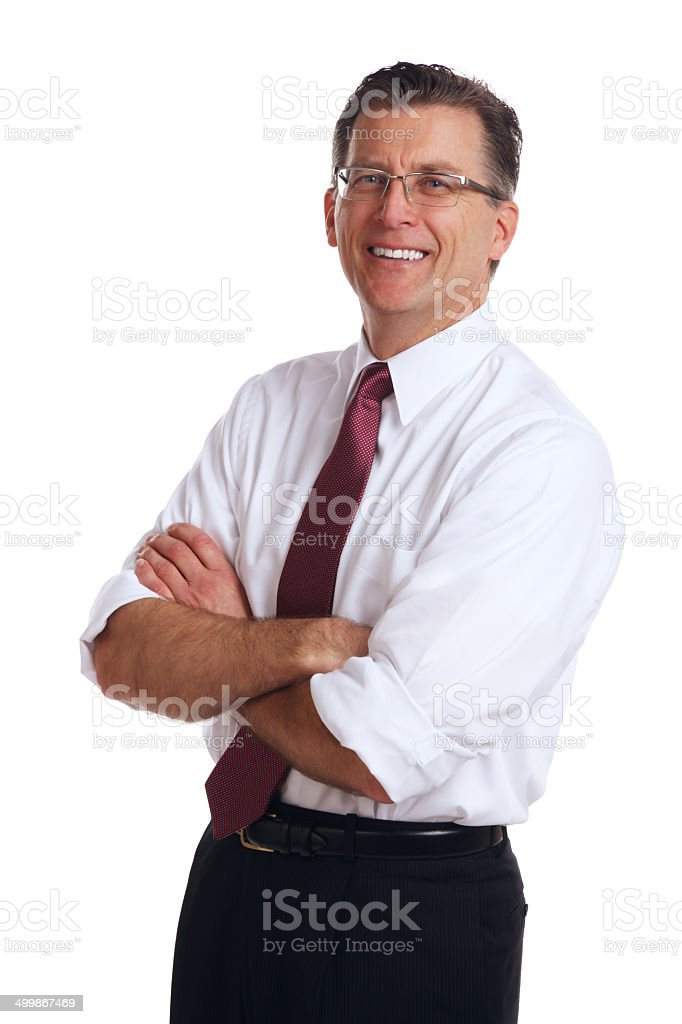 Businessman Folding his Arms royalty-free stock photo