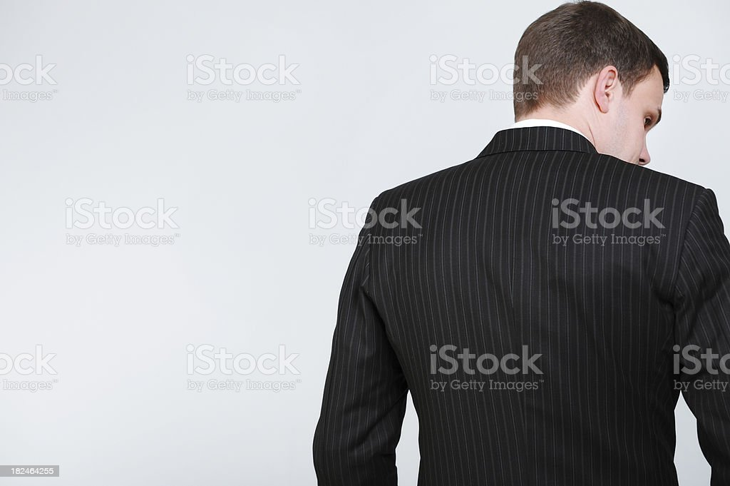 Businessman from behind royalty-free stock photo