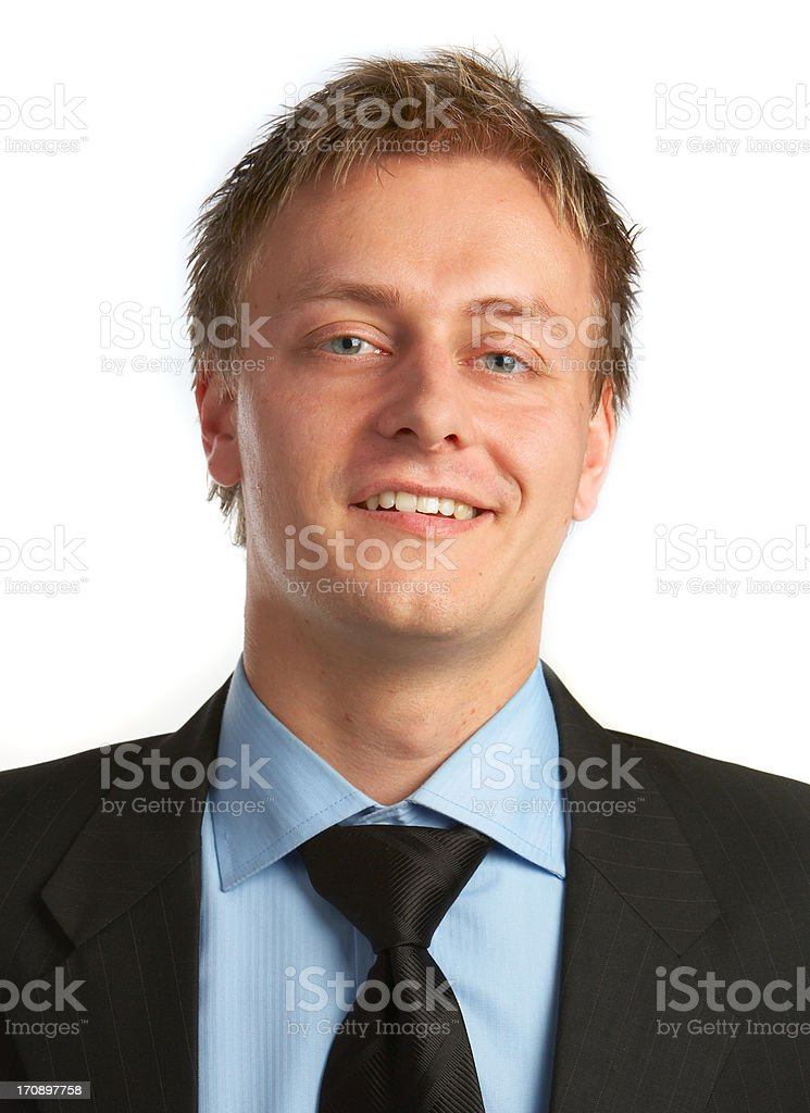 Businessman full of ideas. royalty-free stock photo