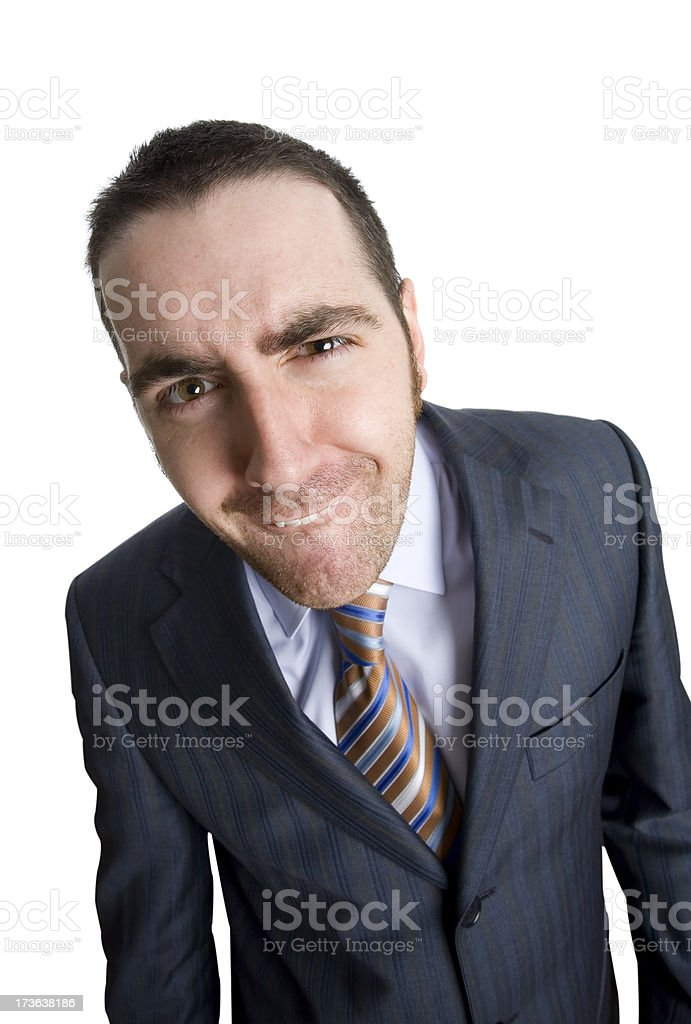 Businessman funny looking royalty-free stock photo