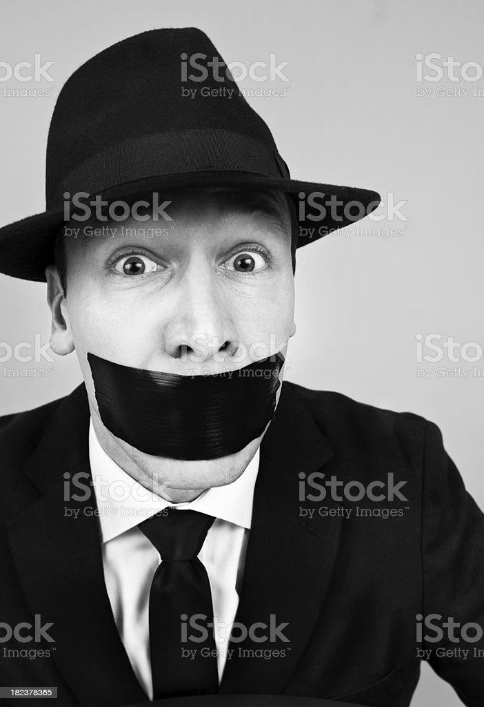 Businessman gagged royalty-free stock photo