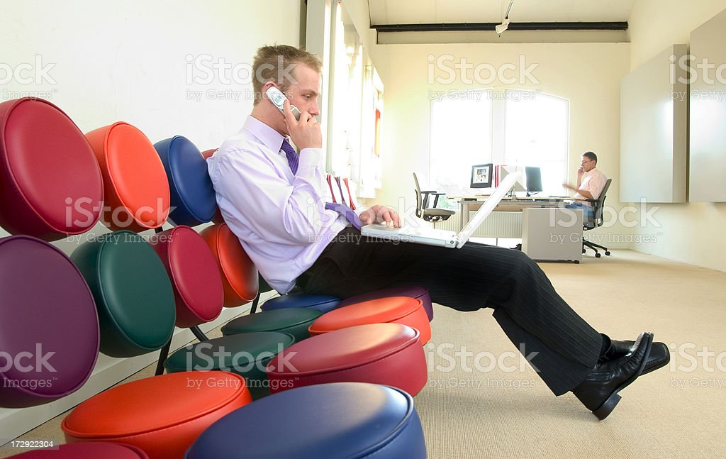 businessman getting the deal done royalty-free stock photo