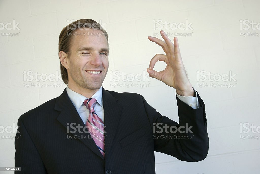 Businessman Gives OK Sign royalty-free stock photo