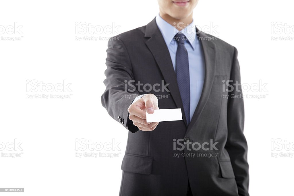 Businessman Giving Business Card royalty-free stock photo