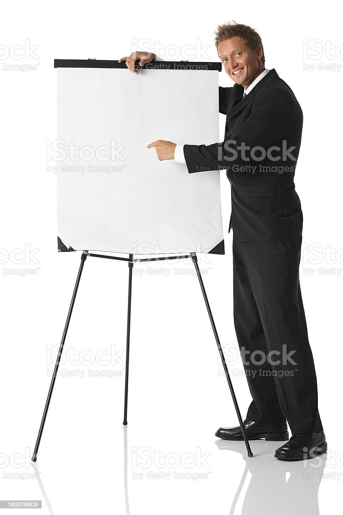 Businessman giving presentation royalty-free stock photo