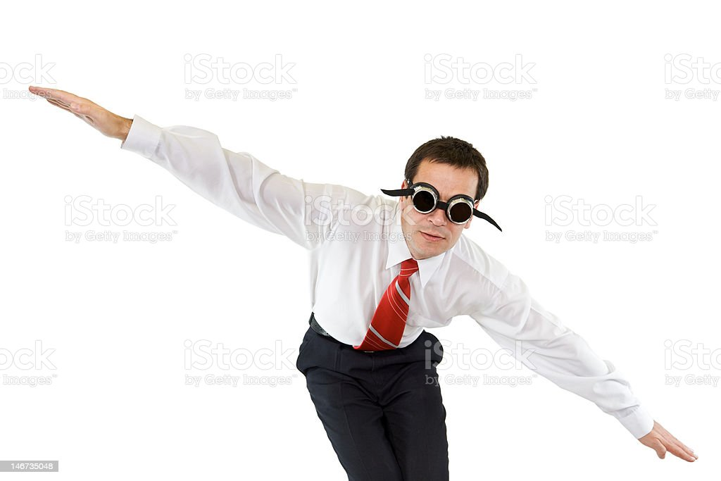 Businessman going down royalty-free stock photo