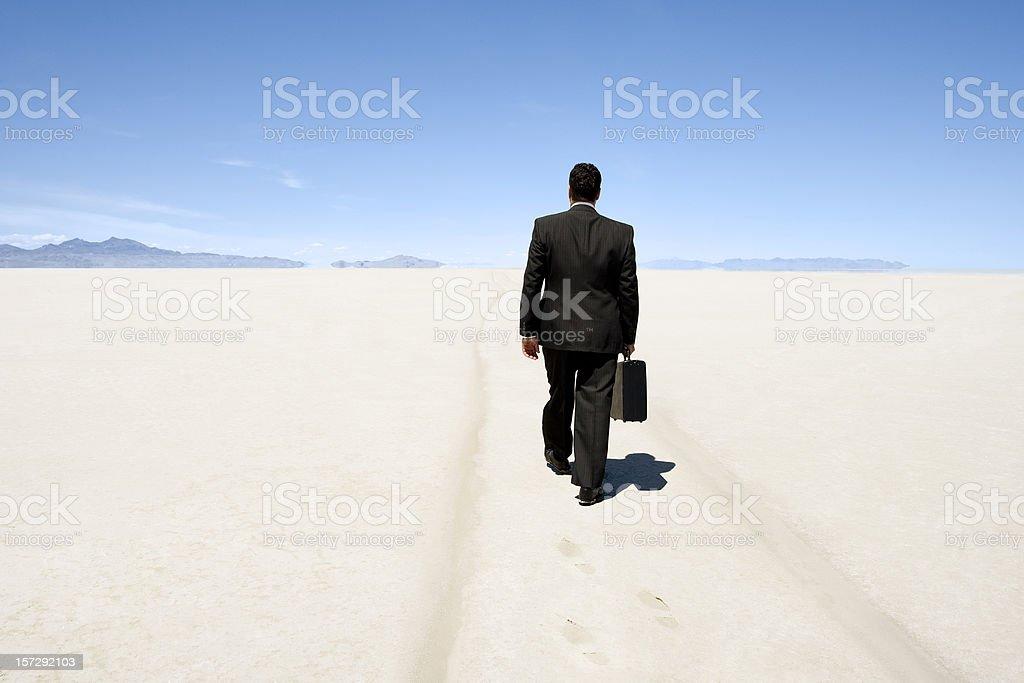 Businessman Going Nowhere stock photo