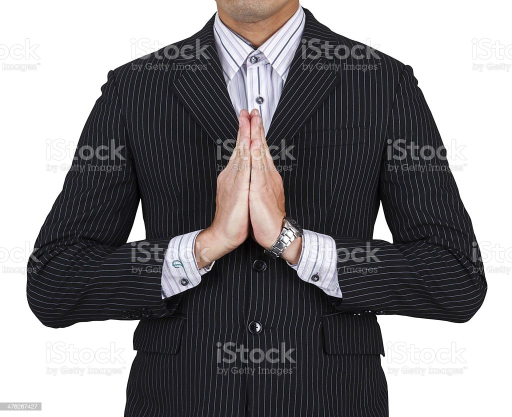 businessman greeting royalty-free stock photo