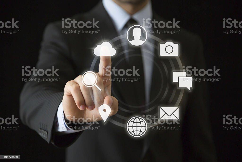 Businessman hand stock photo