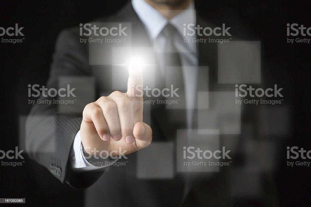 Businessman hand royalty-free stock photo