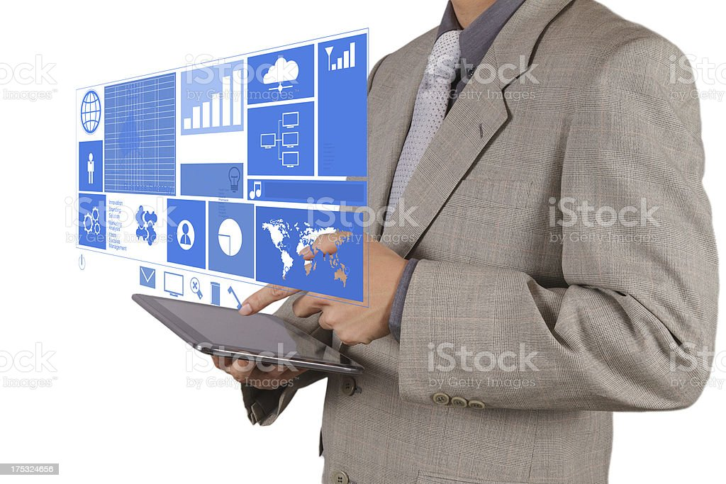 businessman hand working with modern technology royalty-free stock photo