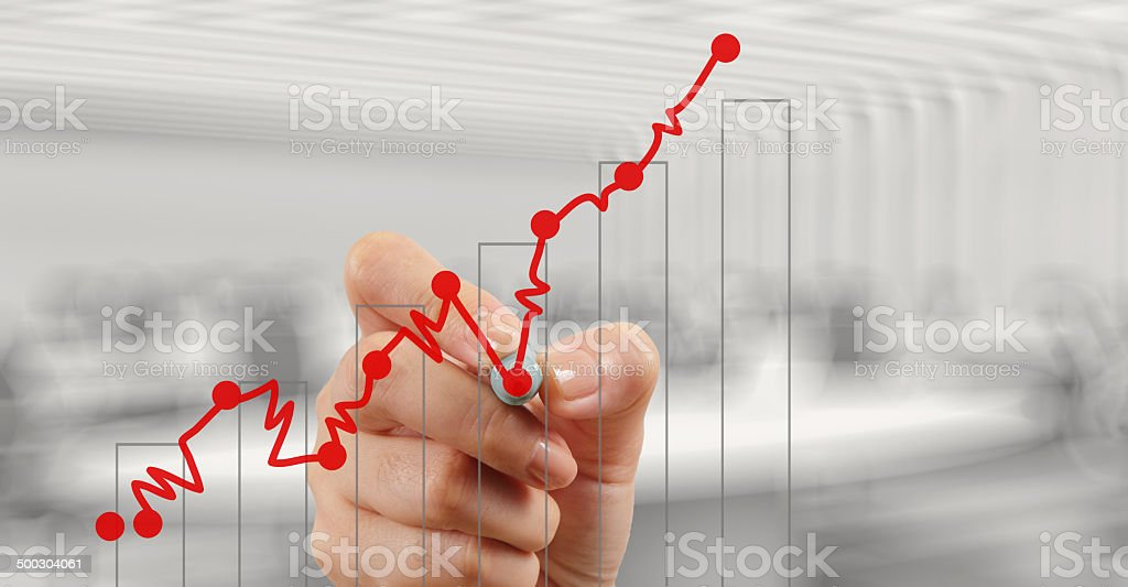 businessman hand working with new modern computer and business royalty-free stock photo