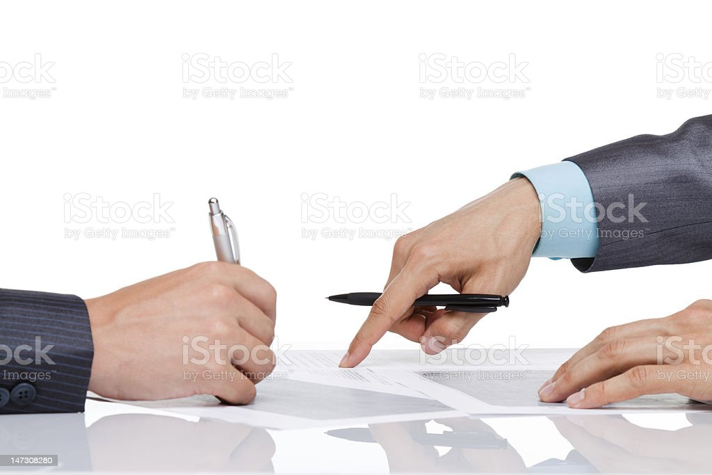 businessman hands point finger sign up royalty-free stock photo