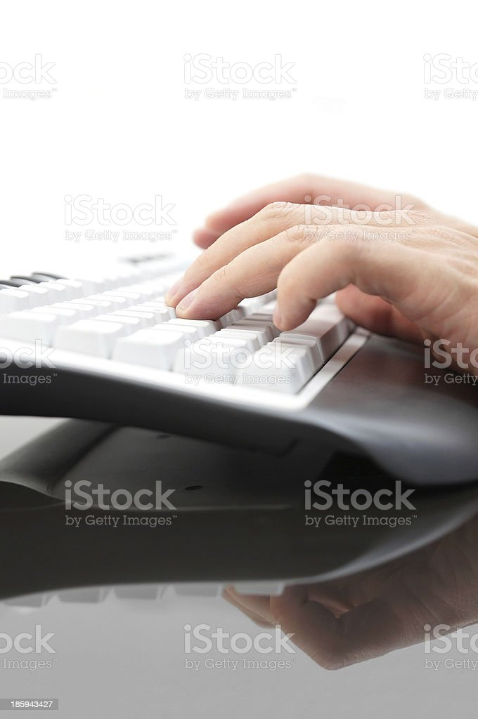 businessman hands typing on keyboard royalty-free stock photo