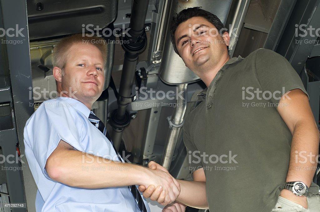 Businessman handshaking royalty-free stock photo