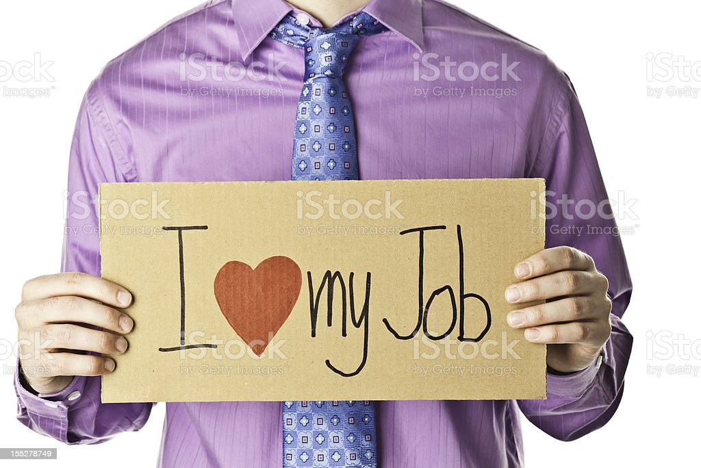 Businessman Happy in His Job royalty-free stock photo