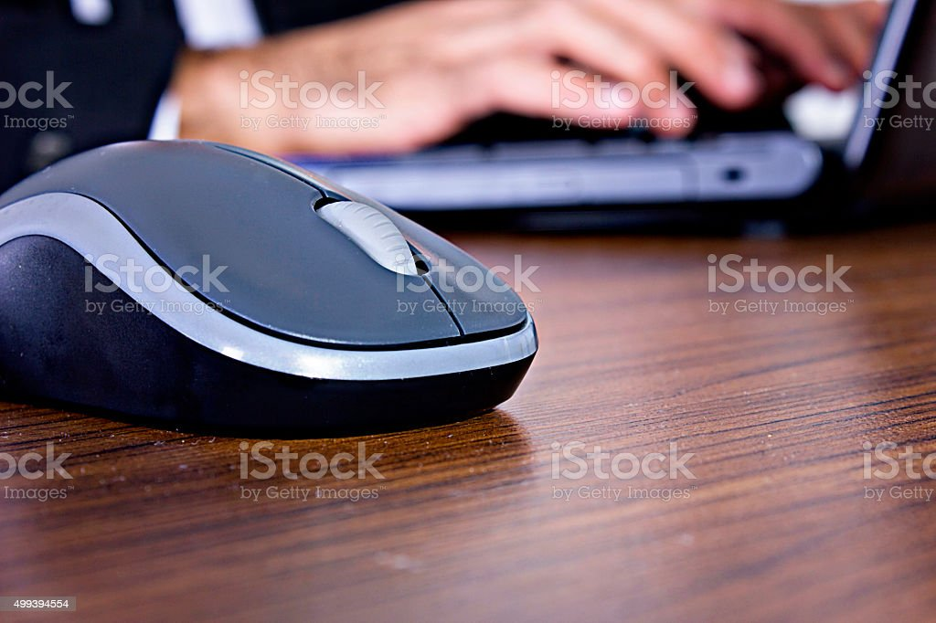 Businessman hard working stock photo