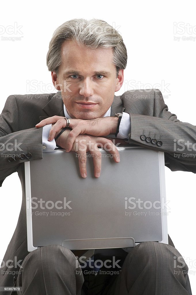 businessman has a break royalty-free stock photo