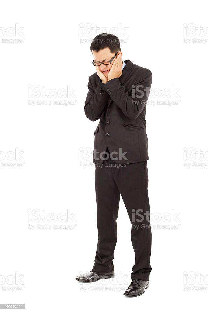 businessman have a  serious toothache royalty-free stock photo
