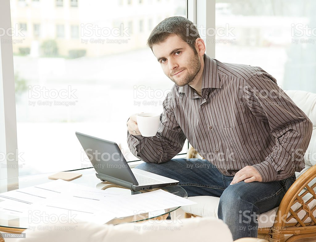 Businessman having a break royalty-free stock photo