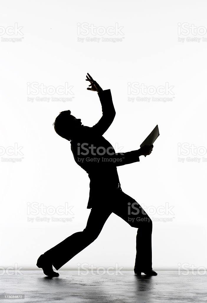 Businessman Having Good Idea On A White Background stock photo