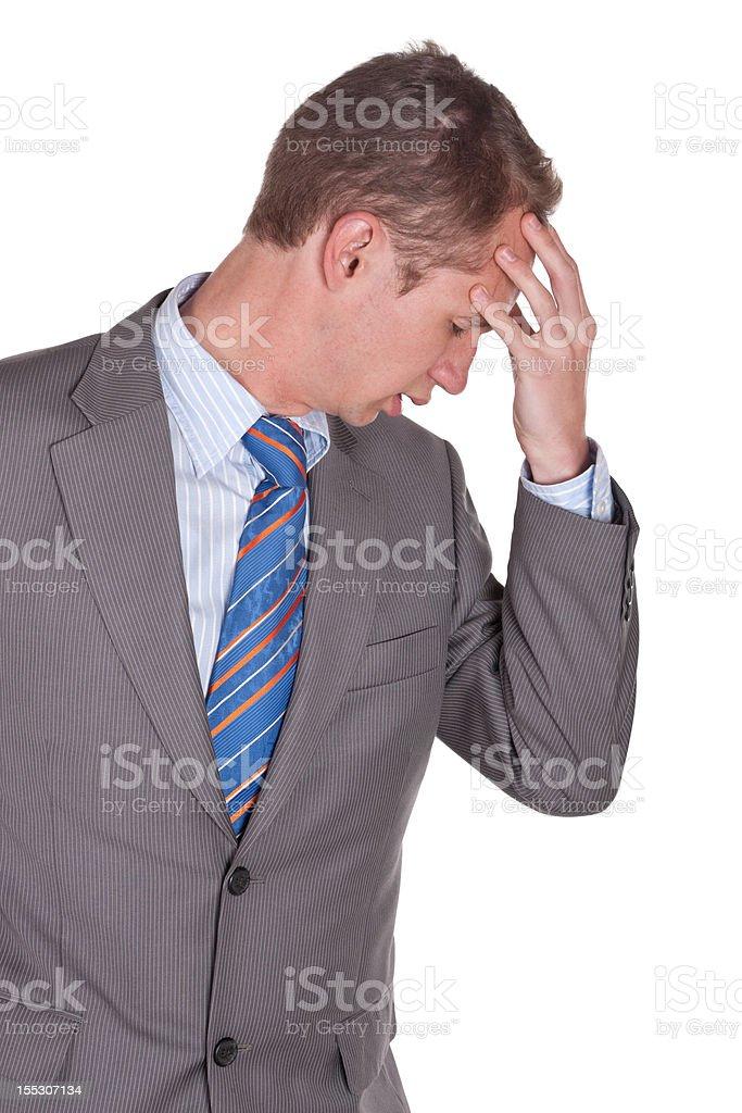 businessman headache stock photo