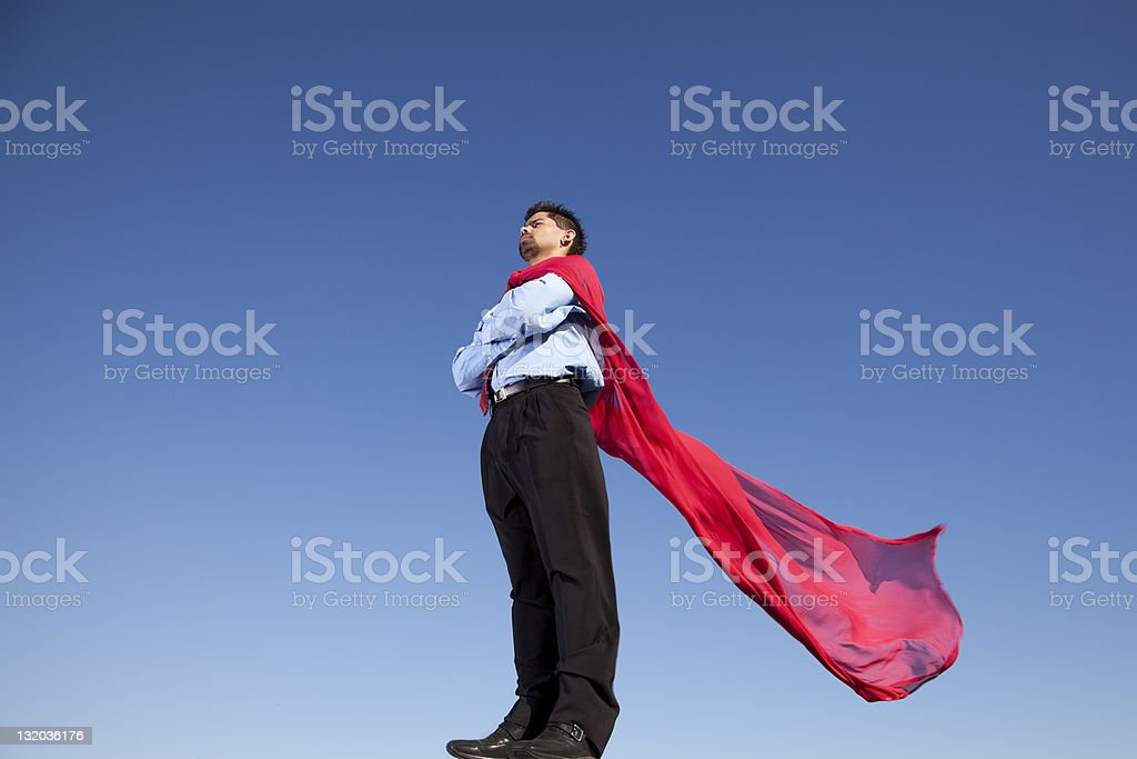 Businessman hero royalty-free stock photo