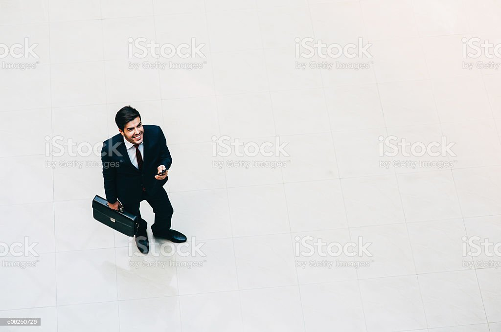 Businessman High Angle View stock photo