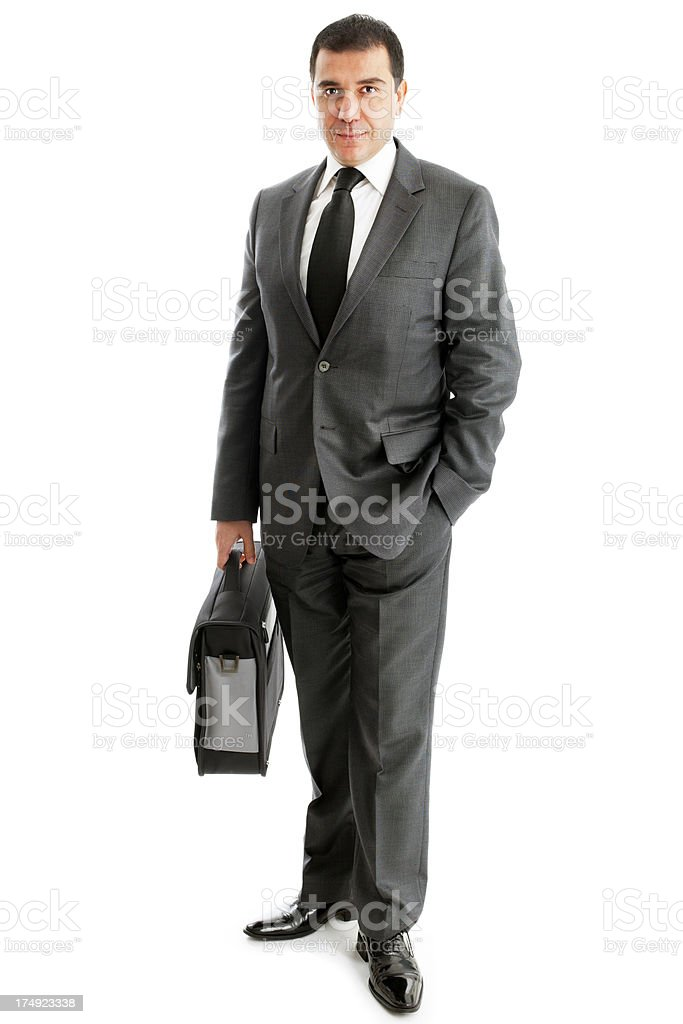 Businessman holding a bag royalty-free stock photo