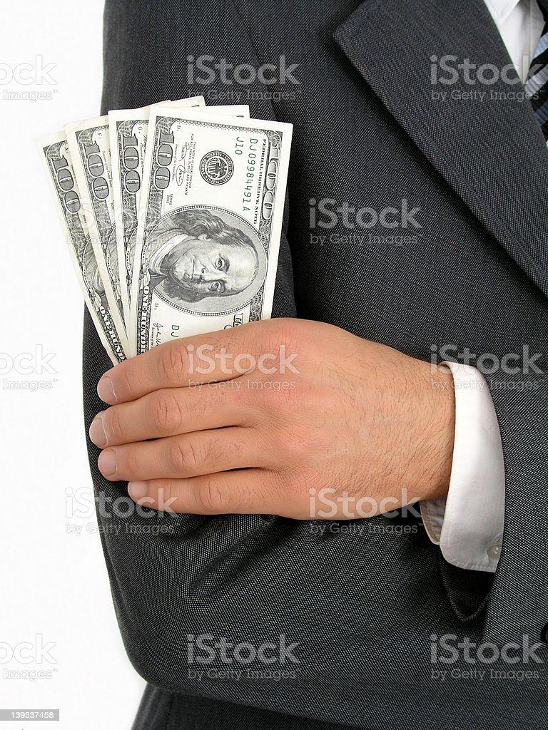 Businessman Holding Money royalty-free stock photo
