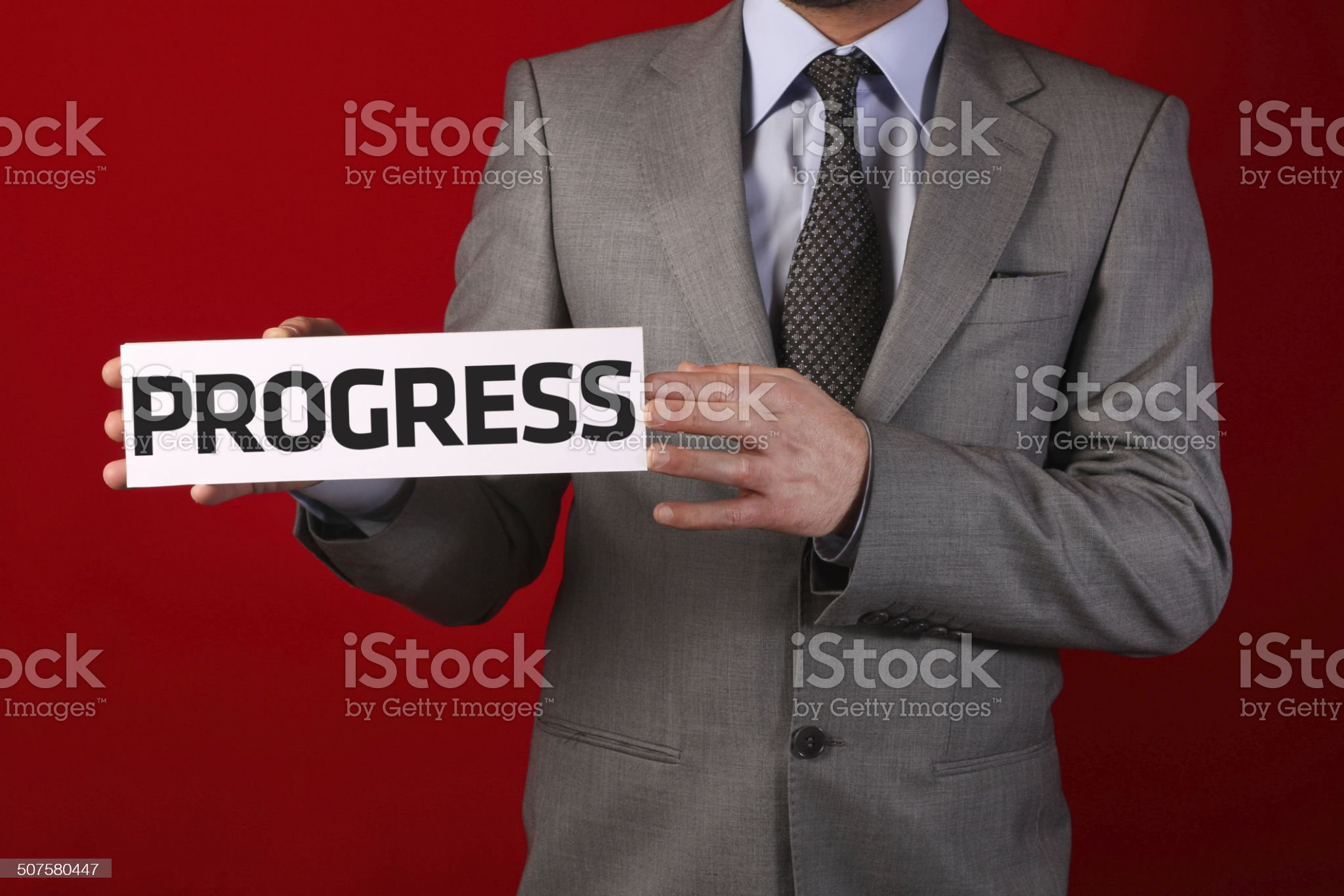 Businessman Holding Whiteboard royalty-free stock photo