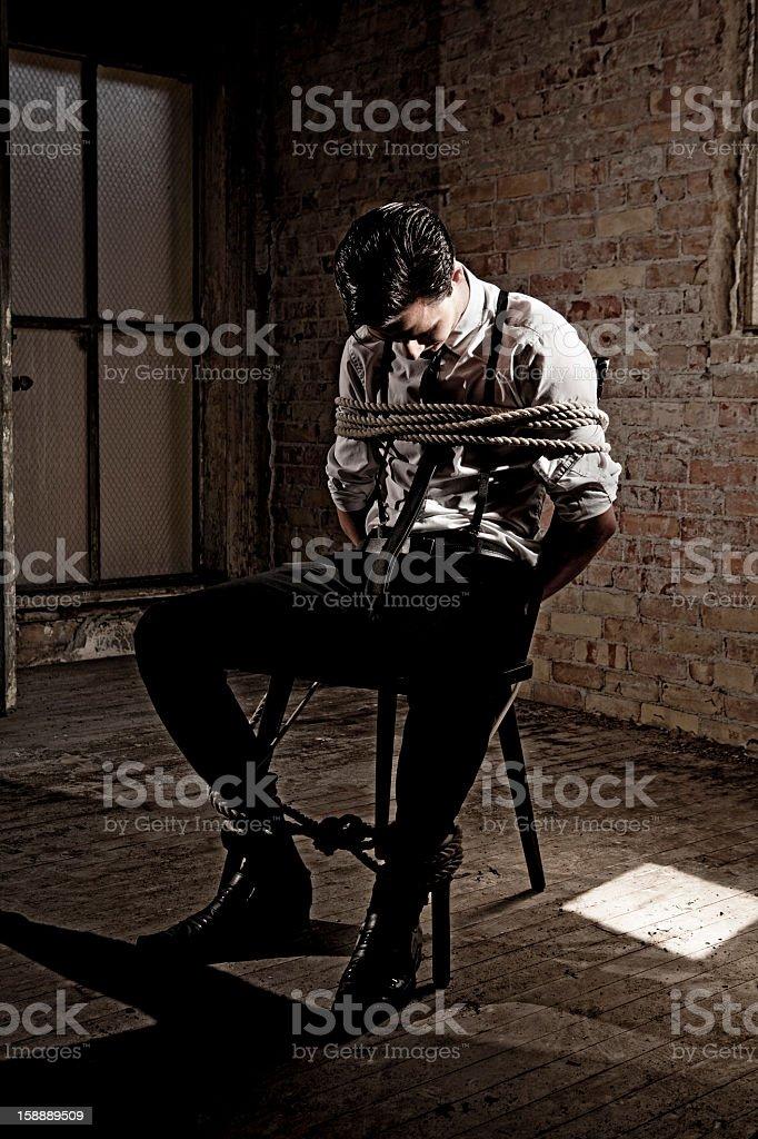 Businessman Hostage stock photo