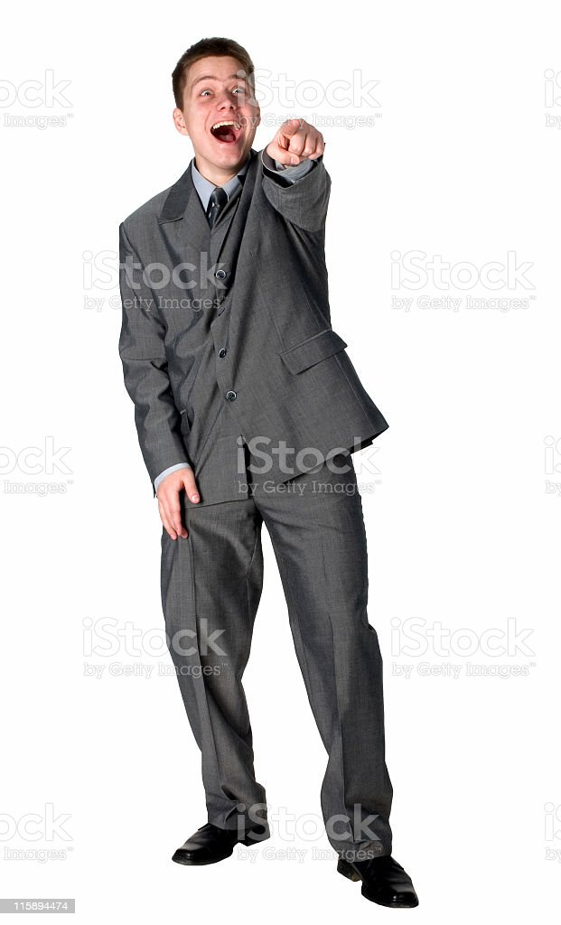 Businessman impressed royalty-free stock photo
