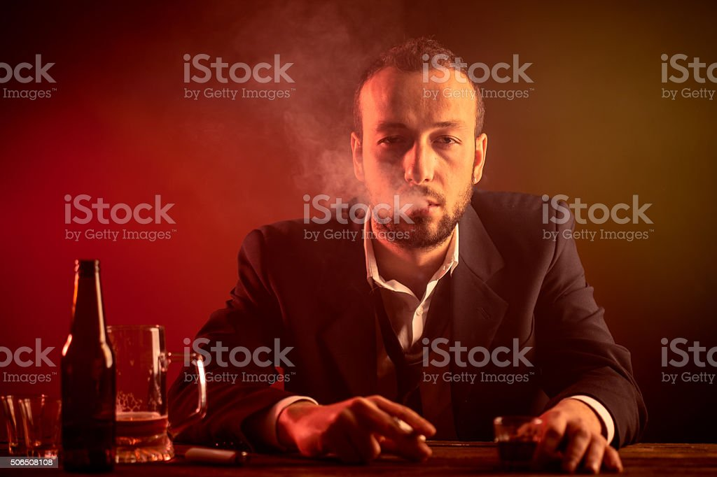 Businessman in a Bar stock photo