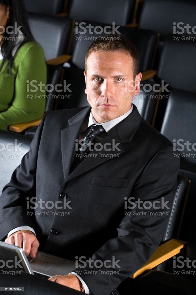 Businessman in a Conference stock photo