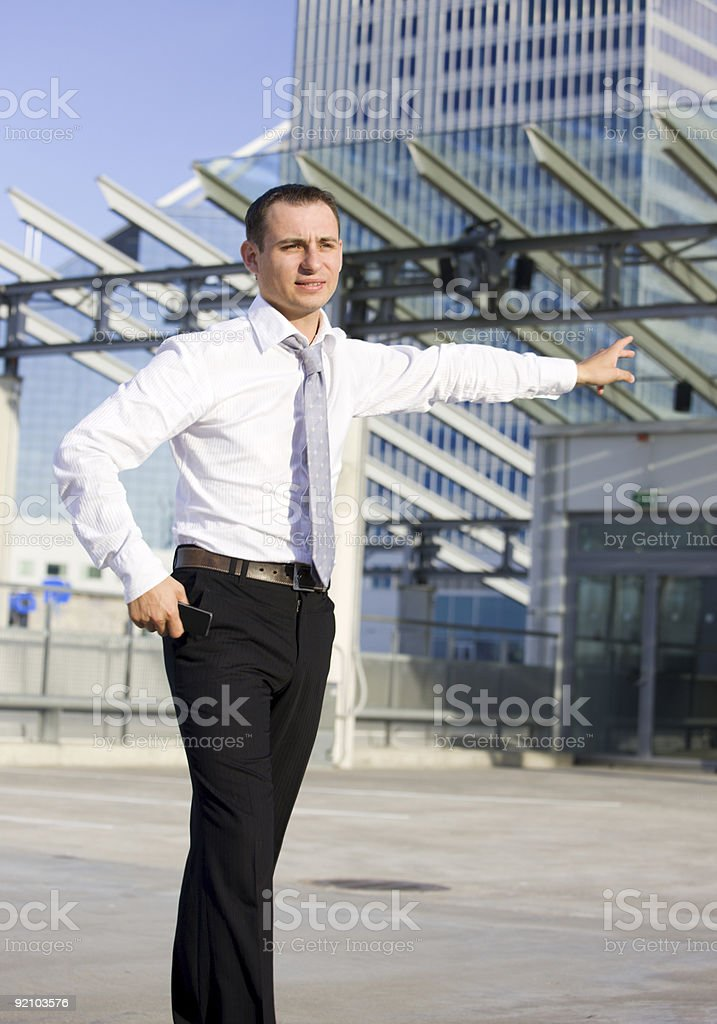businessman in a front of building site royalty-free stock photo
