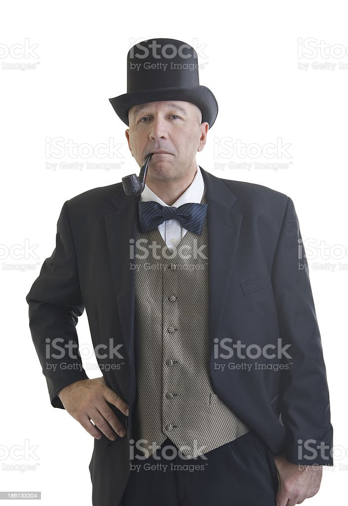 businessman in a retro business suit royalty-free stock photo