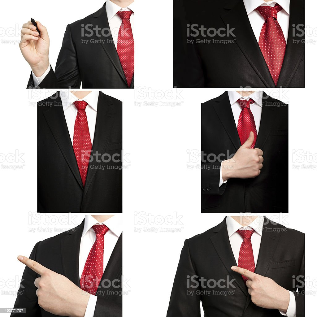 businessman in a suit and red tie royalty-free stock photo