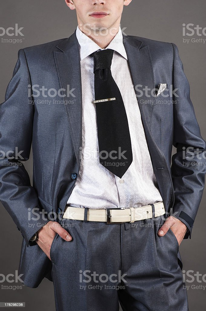 businessman in a suit royalty-free stock photo