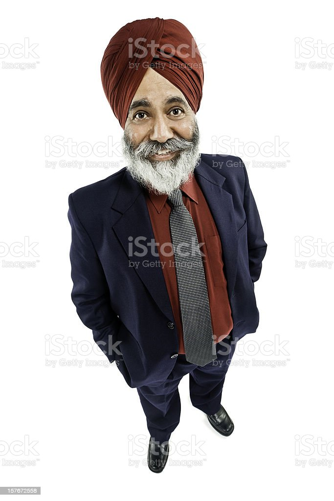 Businessman in a Turban - Isolated stock photo