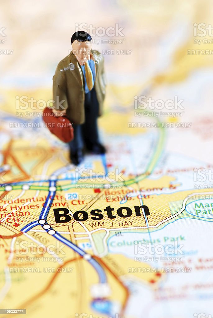 Businessman in Boston stock photo