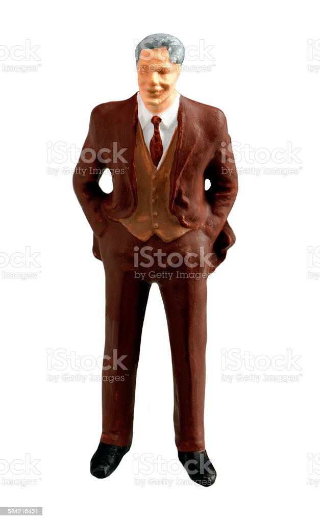 Businessman in Brown Suit stock photo