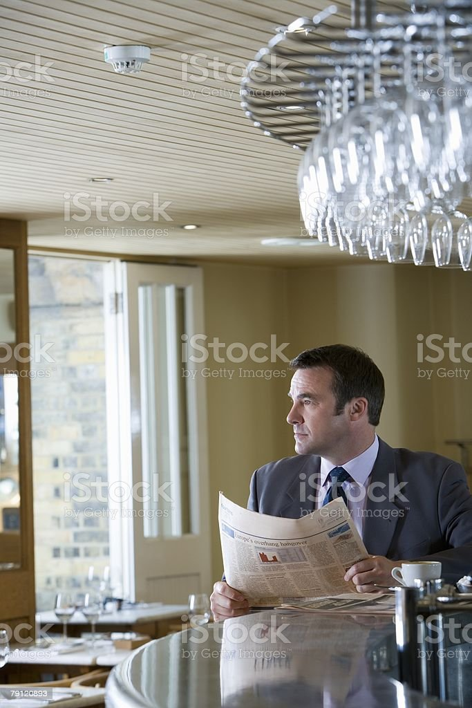 Businessman in cafe royalty-free stock photo
