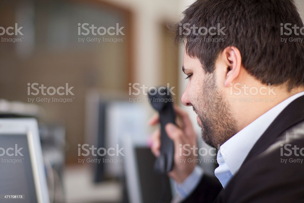 Businessman in Call royalty-free stock photo