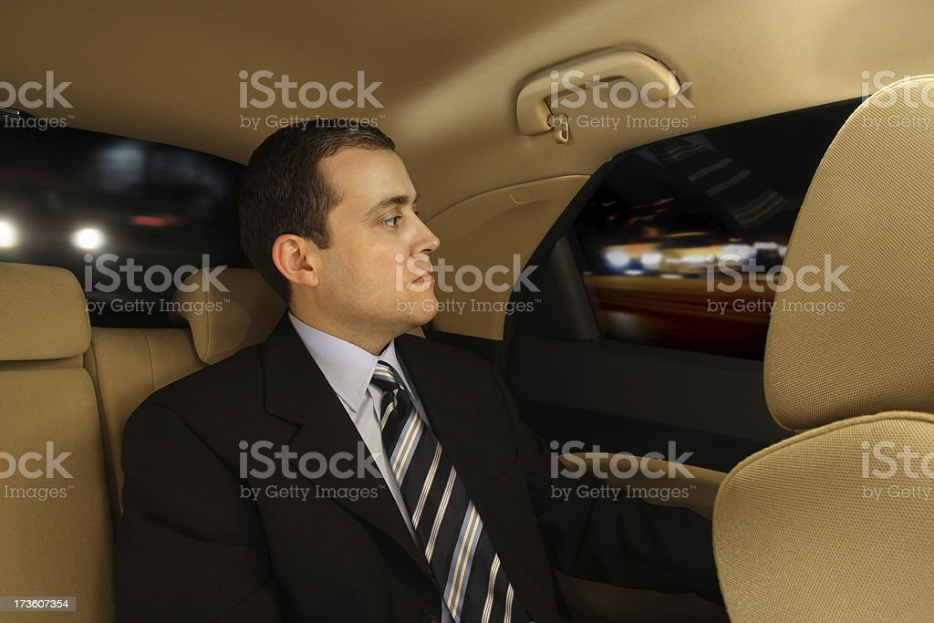 Businessman in Car royalty-free stock photo