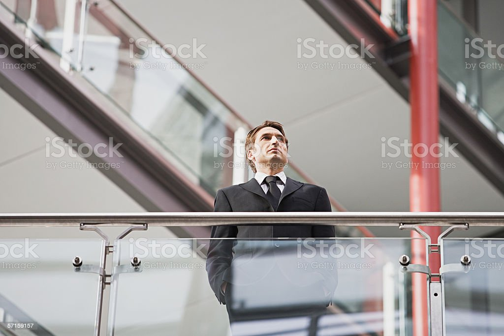 Businessman in contemplation royalty-free stock photo