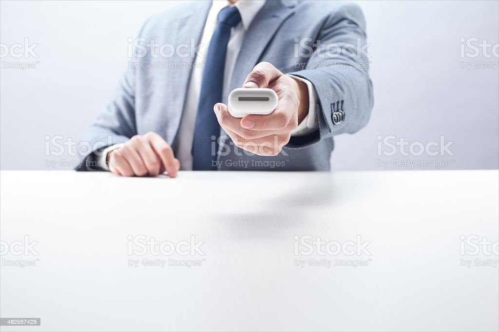 Businessman in Control royalty-free stock photo