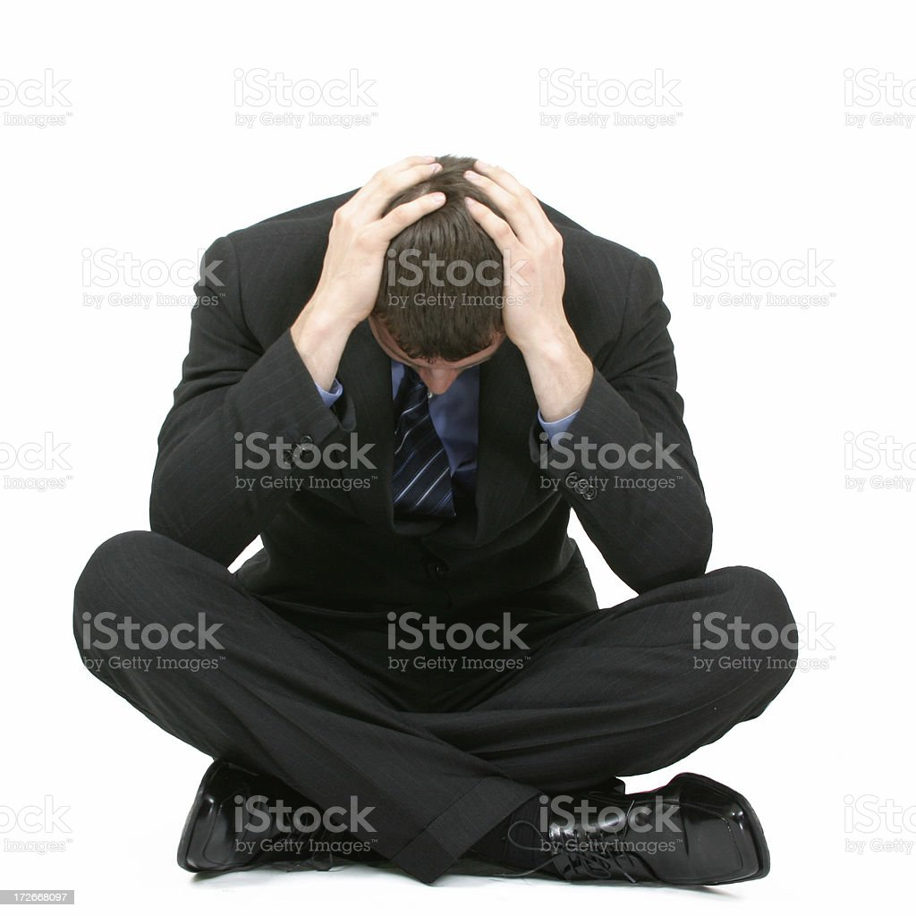 Businessman in depression royalty-free stock photo