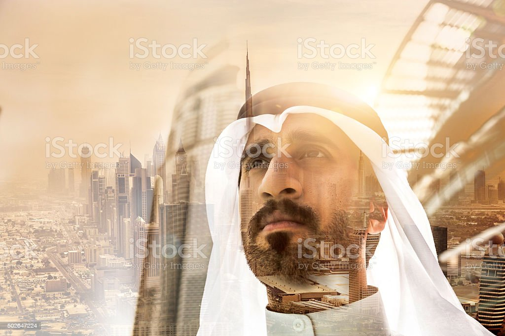 Businessman in Dubai stock photo